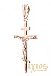 The cross «Crucifixion», gold 585, 30x20mm, О п02680 - фото