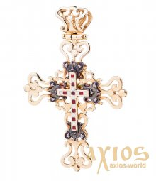 Neck cross, gold 585, О п00589 - фото