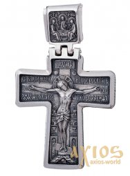 The cross «Crucifixion», silver 925 with blackening, 55x35mm, O 131924 - фото