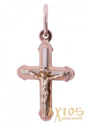 Native cross from red and yellow gold of 585 tests О 29902 - фото