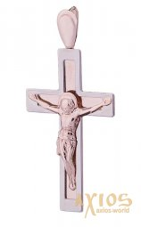 The cross «Crucifixion», gold 585, 20x15mm, О п01177 - фото