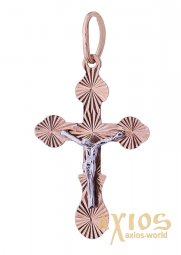 The cross «Crucifixion», gold 585, 15x10mm, О п01176 - фото