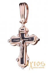 Neck cross, gold 585, O 270052E - фото