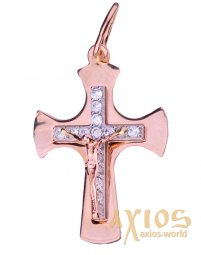 The cross «Crucifixion», gold 585, 25x16mm, О п01763 - фото