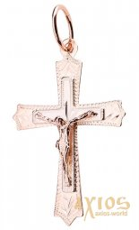 The cross, gold 585, 35x20mm, О п02293 - фото