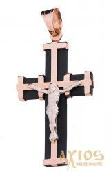 The cross «Crucifixion», gold 585, О 940011 - фото