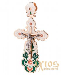 Native cross, gold 585, 45x30mm, О п00586 - фото
