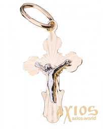 The cross «Crucifixion», gold 585, 20x12mm, О п01496 - фото