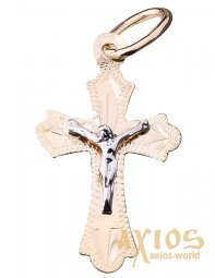 The cross «Crucifixion», gold 585, 28x15mm, О п02091 - фото