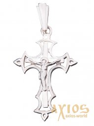 The cross «Crucifixion», silver 925, 37x27mm, О 131471 - фото