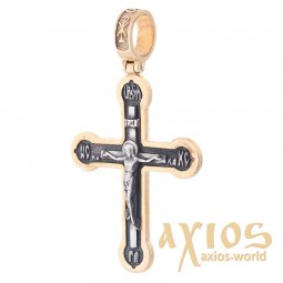 Cross silver with gilding, 35x25 mm, O 132527 - фото