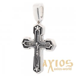 Silver cross with crucifix, 20x12 mm, O 132478 - фото