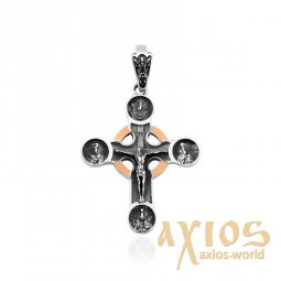 Massive cross made of silver and gold - фото