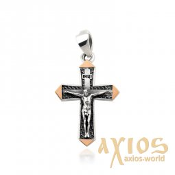 Cross of silver and gold - фото