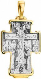 The cross body «Intercession», silver 925° gilt - фото