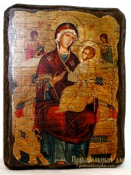 Icon antique Vsetsaritsa 13x17 cm Holy Mother of God - фото