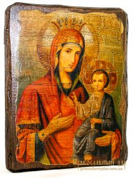Icon antique Iver 13x17 cm Holy Mother of God - фото