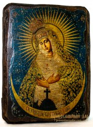 Icon antique Mercy 13x17 cm Holy Mother of God - фото