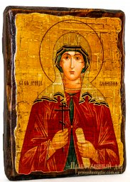 Icon Antique Holy Martyr Valentine Palestinian 13x17 cm - фото