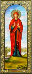 Measured icon of  St. Keira Beriyskaya - фото