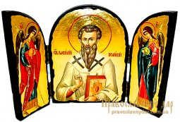 Icon Antique St. Basil the Great Skladen triple - фото