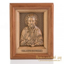 Carved icon of St. Martyr Eugene - фото