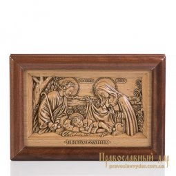 Carved icon of the Holy Family - фото