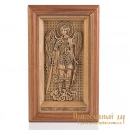 Carved icon of St. Archangel Michael  - фото