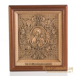 Carved icon of the Blessed Virgin of the Burning Bush - фото
