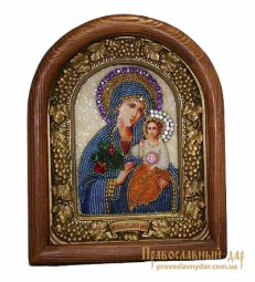 Icon of beads of the Holy Theotokos Fadeless flower - фото