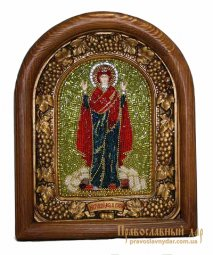 Icon of beads of the Holy Theotokos Sturdy wall - фото