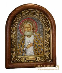 Icon of beads of St. Seraphim of Sarov - фото