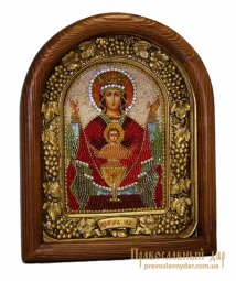 Icon of beads of the Holy Theotokos Inexhaustible cup - фото