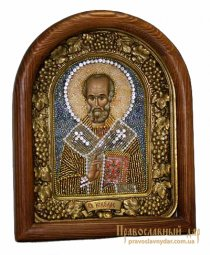 Icon of beads of  St. Nicholas - фото