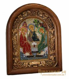 Icon of beads of Holy Trinity of St. Andrei Rublev - фото
