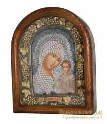Icon of beads of the Holy Theotokos of Kazan - фото