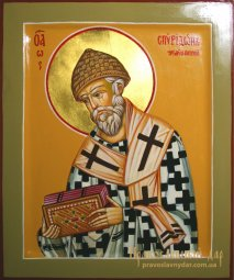 Pissanaya icon of the Holy Saint Spyridon - фото