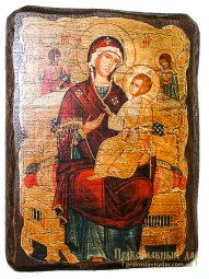 Icon antique Vsetsaritsa 21x29 cm Holy Mother of God - фото