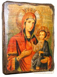 Icon antique Iver 21x29 cm Holy Mother of God - фото