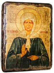 Icon Antique Holy Blessed Matrona of Moscow 21x29 cm - фото