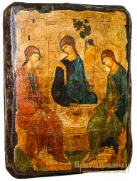 Icon Antique Holy Trinity St. Andrei Rublev 30x40 cm - фото