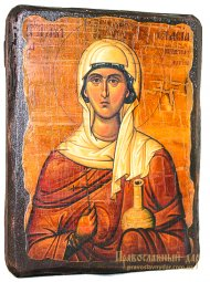 Icon Antique Holy Great Martyr Anastasia 30x40 cm - фото