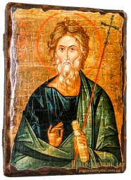 Icon Antique Holy Apostle Andrew 21x29 cm - фото