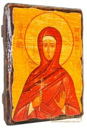 Icon Antique Holy Martyr Barbara 21x29 cm - фото