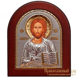 Icon of Christ Pantocrator 20x25 cm (arch) Greece - фото