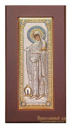 Icon of the Blessed Virgin Herondissa 6x8 cm Velvet folding Greece - фото