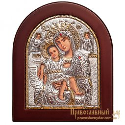 Icon of the Holy Mother of God is truly meet 8x10 cm (arch) Greece - фото
