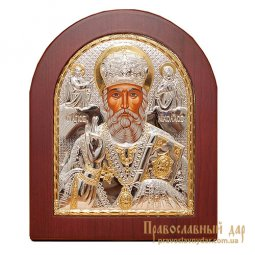 Icon of St. Nicholas the Wonderworker 8x10 cm (arch) Greece - фото