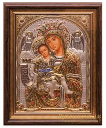 Icon of the Holy Mother of God is truly meet 32x40 cm Greece - фото