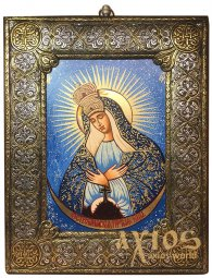 Icon of the Most Holy Mother of Mercy 20x25 cm Byzantine style - фото